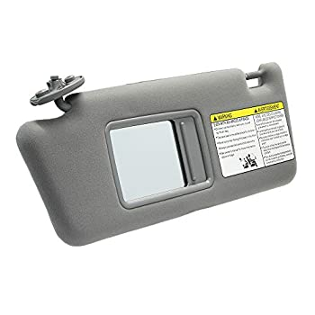 Left Driver Side Sun Visor Replacement for Toyota Tacoma 2005 2006 2007 2008 2009 2010 2011 2012 Visor Assembly Without Light 74320-04181-B1  Gray