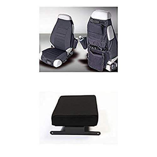 Rugged Ridge Neoprene Seat Cover Pair with Armrest Pad