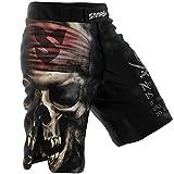 SMMASH Pirates of MMA Shorts MMA Mens, Professional Sportswear, Antibacterial Material, Perfect to MMA, BJJ, Grappling, Krav Maga, Kick Boxing, UFC, Workout Shorts Made in Europe (L)