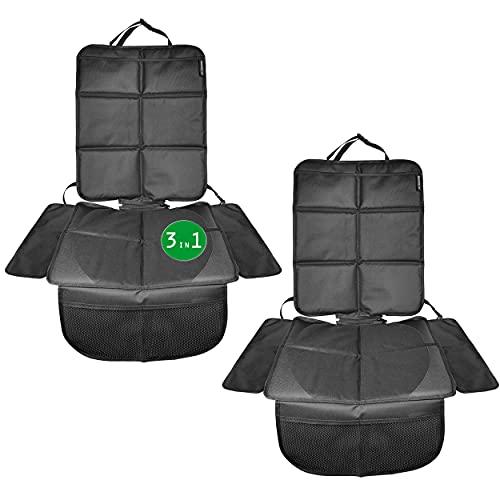 Doppelpack. Babies1st Sitzschoner Auto Kindersitz Schutzunterlage | 3-in-1 Schutz | Kindersitzunterlage isofix | Unterlage für Sitzerhöhung und Rückenlehnenschutz