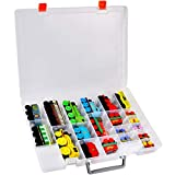 ALCYON Toy Organizer Storage Case Compatible with Thomas & Friends MINIS Engines/ MINIS Toy Trains/ Trackmaster/ Fisher-Price/ Motorized Toy Trains and More. (Transparent)