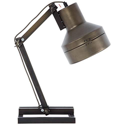 Tafel- bureaulamp Hardwork industrieel zwart staal 60W E27
