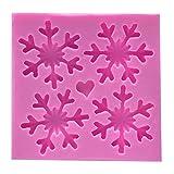WEIHEEE シリコンモールド 手作り 雪の結晶 ハート クリスマス シュガークラフト 粘土 樹脂 抜き型 ハンドメイド クッキー型