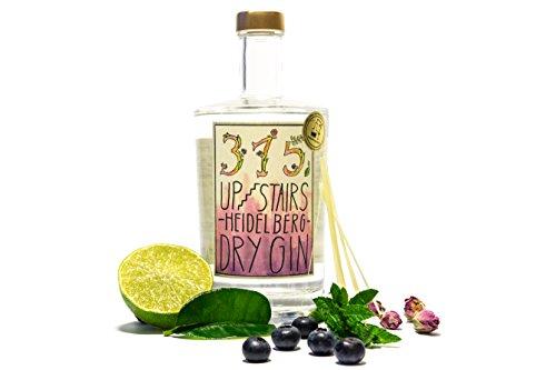 315 UPSTAIRS HEIDELBERG DRY GIN | (1 x 0,5 Liter) | preisgekrönt | perfekt als Geschenk | einzigartiger Geschmack