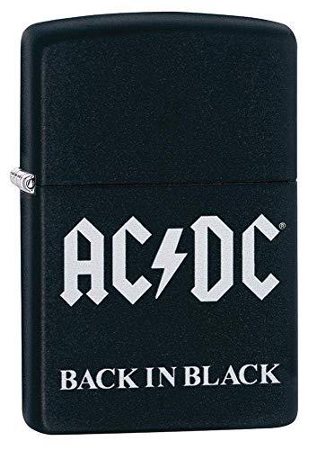 Zippo AC/DC Black Matte Pocket Lighter