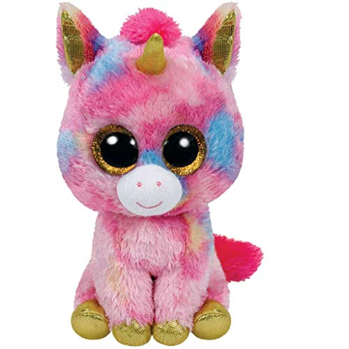 Ty - Fantasía, Peluche Unicornio, 15 cm, Color Multicolor (