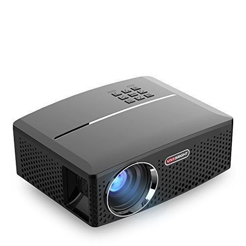 GP80 Projector, Portable Size 2017 Top Game Video Entertainment, Led 1800 Lumens for Home Theater 1080P Read via Double HDMI & USB to Achieve Your Movie at Your Family Party