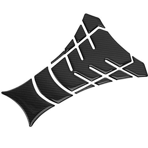 Akozon Motorcycle Tank Pad, Carbon Fiber Gas Fuel Tank Pad Protector Sticker Decals
