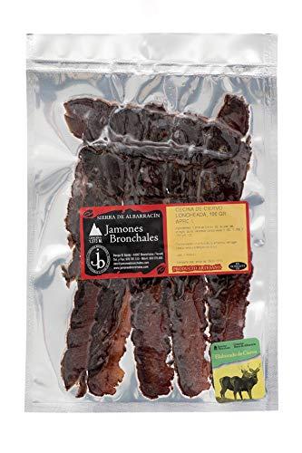 Jamones Bronchales - Cecina de Ciervo Elaborada Artesanalmente y de Curación Natural en el Secadero más Alto de España, en la Sierra de Albarracín - 100gr aprox - Curación mínima 5 Meses