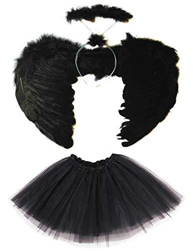 Halloween Duivel Hoofdband, Wingen, Tutu Kostuum Veer Meisjes Fancy Jurk Outfit Party Door Sky Online