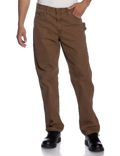 Dickies - DU336 Sanded Pato carpintero Jean, 38W x 32L, Rinsed Timber Brown