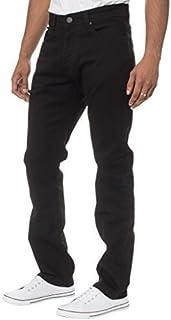 Enzo New Mens Stretch Straight Leg Regular Fit Classic Basic Denim Jeans