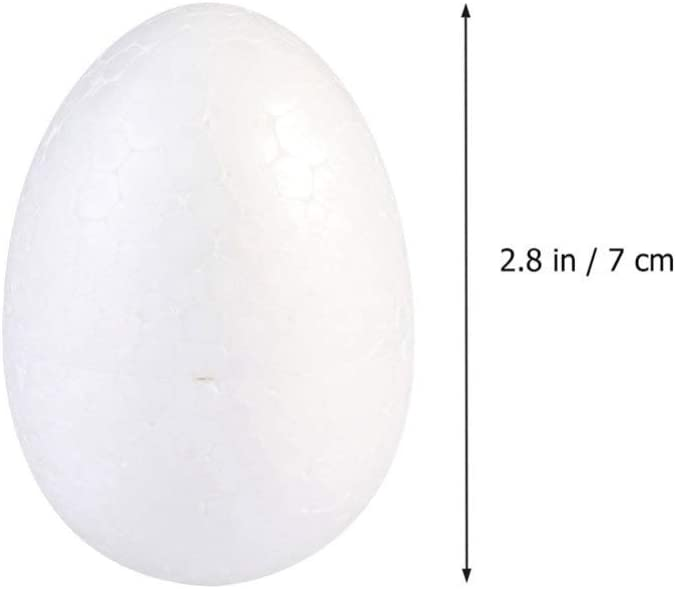 HEALLILY 34 Piezas de Huevos de Espuma de Pascua de Poliestireno de Poliestireno de Pascua Formas de Huevos de Pascua Adornos Adornos 7 Cm