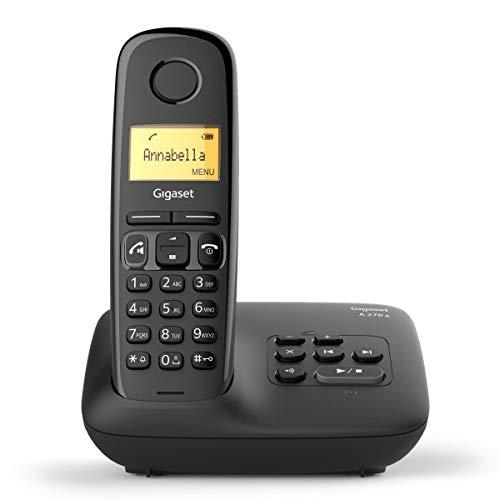 Gigaset A270A Telefono Cordless, con Segreteria Telefonica, Nero [Versione Italiana]
