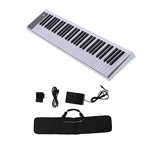 Eujgoov Smart Piano Digitale a 61 Tasti, Kit di Strumenti Musicali Multifunzione Ricaricabile con Tastiera MIDI