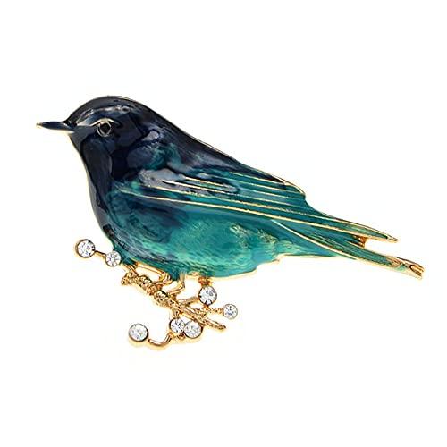 RWJFH Broche Broches esmaltados Broches de Diamantes de imitación Bonitos de Moda Unisex Mujeres Hombres Joyería Regalo Colorido, Azul