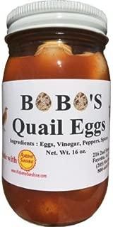 Bobo's Cajun Style Pickled Quail Eggs - 2 pint jars