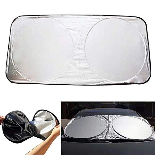 PoeHXtyy Parabrisas Delantero Plegable Parasol Jumbo para Carro camión SUV UV Protector Shields Auto