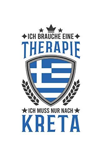 Kreta Reise Notizbuch: Kreta Griechenland Urlaub Reise Geschenk / 6x9 Zoll / 120 linierte Seiten