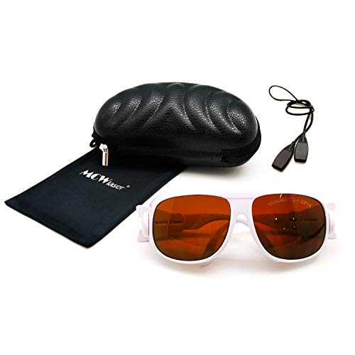 MCWlaser Gafas Protectoras de Seguridad láser Gafas 190-540 y 800-1700nm Típico para 355nm 405nm 445nm 450nm 473nm 520nm 532nm 808nm 980nm 1064nm Tipo de absorción EP-1 Estilo 1