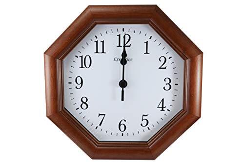 orologio da parete economico Orologio da Parete in Legno Massello Color Noce Elegante Vintage