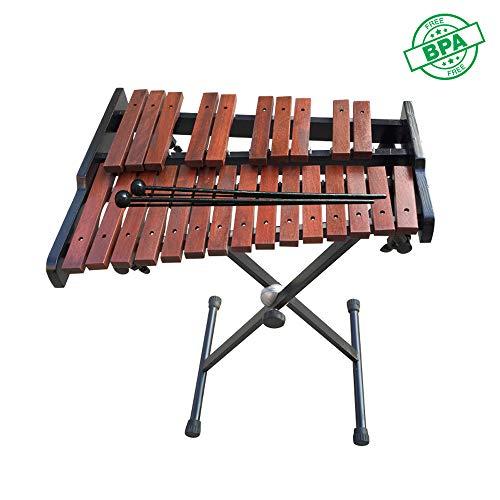 HSJLH 25 Soundtrack Rahmen Mahagoni Klavier, Bildungsniveau Glockenspiel Kinder Perkussion, Erwachsene und Kinder - mit Zwei Schlägeln, Perkussionsinstrumente