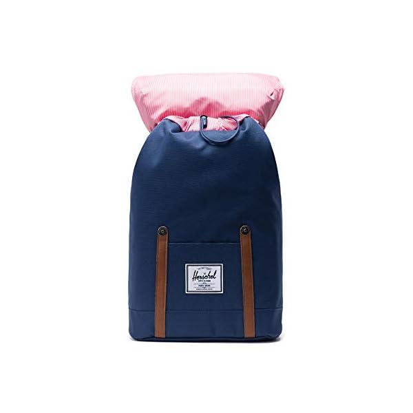 41R8tmPJ1sL. SS600  - Herschel Retreat Backpack - Mochila casual unisex, Azul (Navy), 19.5 L