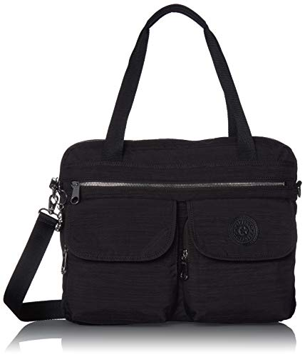 Kipling Women's Maric Laptop Tote Bag, Black DAZZ, One Size