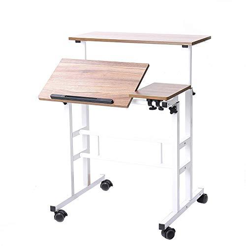 SogesHome Mesa de computadora de Altura Ajustable Escritorio de computadora portátil Estación de Trabajo Mesa de computadora portátil Tablas de Dibujo para Arte, Escritura, elaboración,SH-ZS-101-2-OK