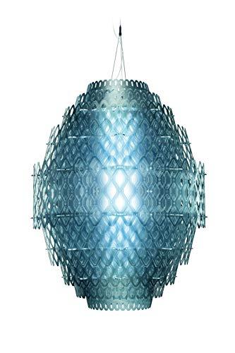 Slamp Acrylique Suspensions/Charlotte en Bleu | Fait à la main Fabriqué en Italie | lumière pendante moderne bleu | lampe LED