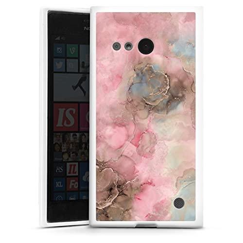 DeinDesign Silikon Hülle kompatibel mit Nokia Lumia 730 Hülle weiß Handyhülle Wasserfarbe Farbe Farbverlauf