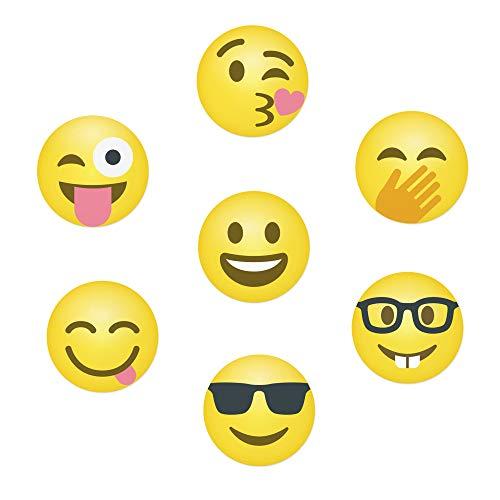 Emoji-Weinglas-Marker – 18 statisch haftende wiederverwendbare Glas-Aufkleber – für Weinproben, Partys, Weingeschenke und Gastgeschenke