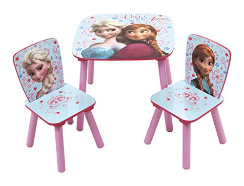 Arditex tafel en 2 stoelen van hout, 50 x 50 x 44 cm, stoel: 26,5 x 26,5 x 50 cm