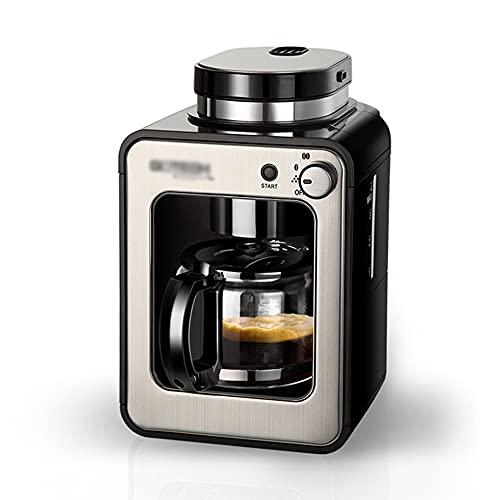 ZHZHUANG Máquina de café recién molido completamente automática para el hogar, mini molienda pequeña americana, máquina de café de goteo americana de moda integrada para oficina Mantener caliente