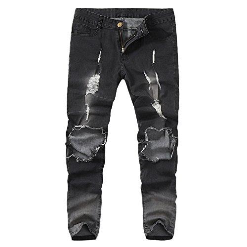 Männer Geschredderte Hosen Skinny Streerwear Herren Mode Hose Daysing Slim Fit Jeanshosen Kleidung Röhrenjeans Hüftjeans Stylische S-4XL