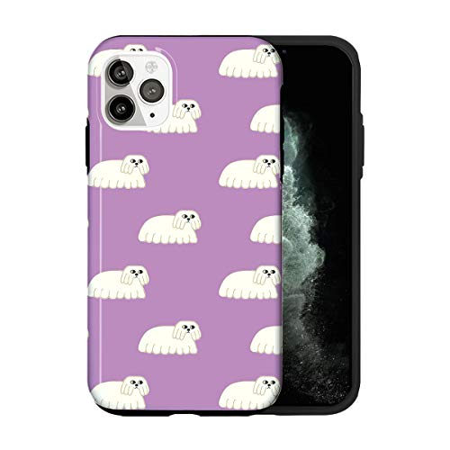 Sconosciuto iPhone 12 Mini Case, The Dog Midnight Purple Gospel TV034_1 Case for iPhone 12 Mini Protective Phone Cover, Abstract Funny Gorgeous [Double-Layer, Hard PC + Silicone, Drop Tested]