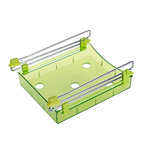 FairOnly Organisateur de Cuisine Etagère Cuisine Réfrigérateur Type de tiroir Etagère Réfrigérateur Organisateur Box Rack Vert 20 * 15 * 7,5 cm