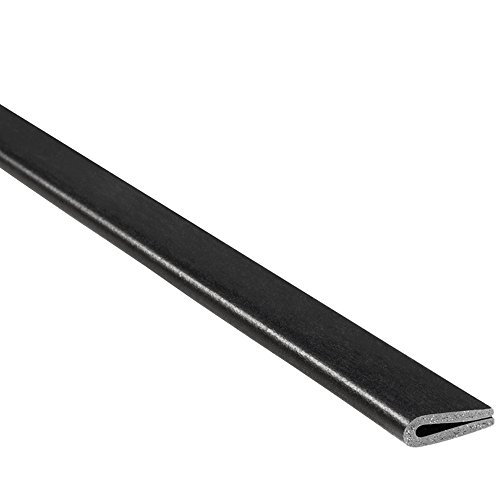 "Trim-Lok Rubber Edge Trim – Fits 1/16"" Edge, 3/8"" Leg Length, 25' Length, Black – Flexible Neoprene Edge Protector for Sharp/Rough Surfaces, Easy to Install for Cars, Boats, Machinery and More"
