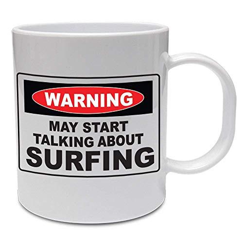 N\A Hablando de Surf: Regalo Divertido del día del Padre/papá/Deporte/Taza de cerámica Divertida