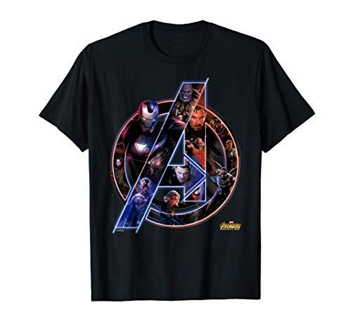 Marvel Avengers Infinity War Neon Team Camiseta