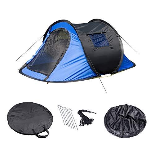 Laneetal Campingzelt Wurfzelt 2-3 Personen Zelt Sekundenzelt Camping Festival Outdoor Wasserfestes Zelt 3 Jahreszeiten 145x240x100cm Blau