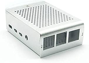 VGE Raspberry Pi Wall Mount Metal case with Fan (Raspberry Pi 3+, 2, b+, Silver)