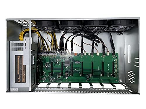 BsCom 8 GPU Mining Rig Complete Miner Machine System Solution Case for Building a Mining Rig, GPU Port Gap65CM