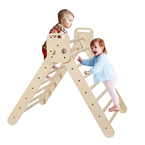 Aagam CPSIA Certified Triangle Ladder Foldable Kids Toddlers Climbing...