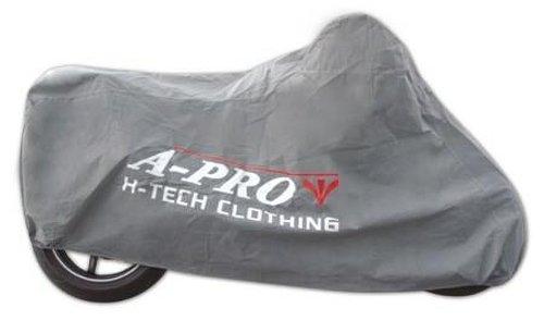 Beschermhoes voor motorfiets, scooter, stof, bescherming tegen stof, garage, vakantie, motorrijders. XL grijs.