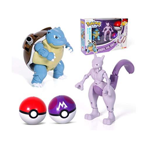 Zpong Pokemon Figur Elf Ball Variante Spielzeug Modell Mewtwo Blastoise Pokemon Spielzeug Actionfigur Modell Geschenk