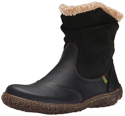 El Naturalista N758 GRAIN-LUX SUEDE BLACK / NIDO Damen Stiefel schwarz (black), EU 37