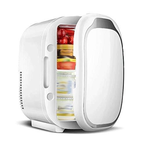 AMYAL Mini Fridge Small Refrigerator 6L 12V/220V Mini Travel Fridge Cooler Warmer Car Van Thermoelectric Refrigerator Mini Refrigerator