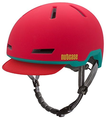 Nutcase - Casco da bicicletta Tracer, per adulti, Bambina, Ember Red Matte, S-M | 52-56cm