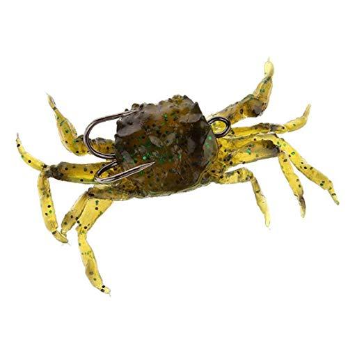 Artificiale granchio esca molle da pesca Esche Simulazione realistica Bait Swimbait Attrezzatura di pesca verde